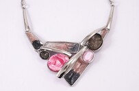 Pink Rhodium Necklace