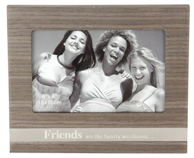 Veneer Photo Frame with sayings / Friends