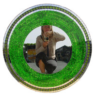 Mosaic Mirror (mirror trim) 70cm / Green