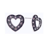 Earrings - Diamante Hearts
