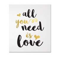 Canvas Art - All you need is Love