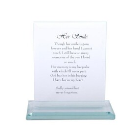 16cm Her Smile Glass Plaque