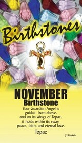z Affirmation Angel Pin -Birthstone November