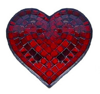 Mosaic Heart / Red / 16cm