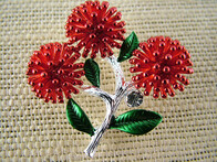Brooch - Red Pohutukawa Brooch
