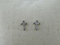 Sterling Silver - Cross Studs