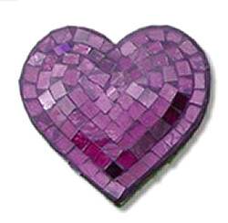 Mosaic Heart / Purple / 16cm