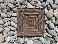 Rattan Cane Placemat - Dark - Square