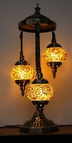 Turkish Mosaic Floor Lamp - Yellow Gold