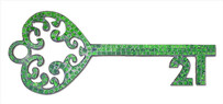 Mosaic 21st Key / Green