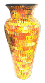 60cm Mosaic Vase with Mosaic inner / Yellow