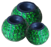 Mosaic Candle Ball / Green