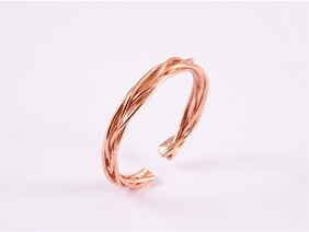 Ring - Rose Gold Twist