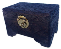 Jewellery Box - Carved Wooden Jewellery Box - 20cm x 12cm