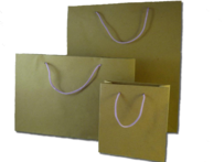 Matt Craft Paper Bags with Purple Handles per 50 Bags