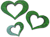 Mosaic Heart Outline / Green