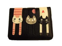 Black Pussy Cat Wallet - Small