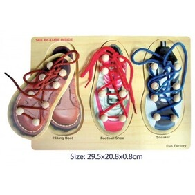 Wooden Puzzle / Lacing Shoes Puzzle