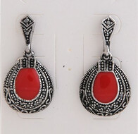 Earrings - Red Drop Earrings