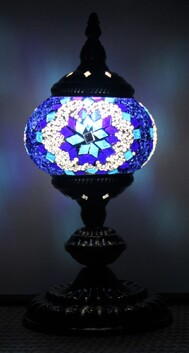 Turkish Mosaic Lamp - Small Blue