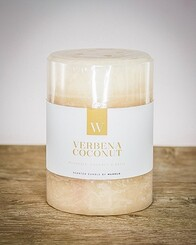 W Scented Candle 7cm x 7.5cm - Verbena Coconut