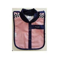 NZ Made Baby Bib / Pink Police