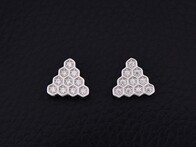 Sterling Silver - Triangle Studs