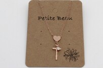 Necklace - Petite Beau Cross My Heart
