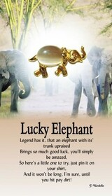 z Affirmation Angel Pin - Lucky Elephant