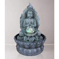 Water Fountain Buddha with Ball (indoors)