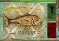 Ceramic Placemats Set of 4 Boxed / Snapper