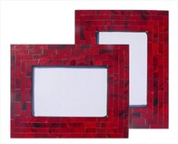 Mosaic Photo Frame / Red