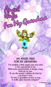 z Affirmation Angel Pin - Angel Hugs for My Grandma