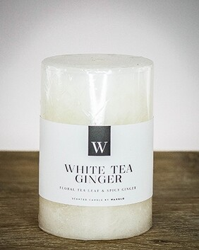 W Scented Candle 7cm x 7.5cm - White Tea Ginger
