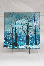 Glass Plate with Trees
