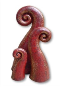 Pottery Koru (Set of 3) / Red
