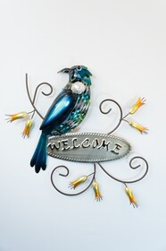 Metal Tui Welcome Sign