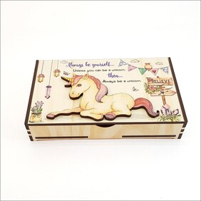 Unicorn Trinket Box Large