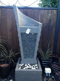 Spinnaker Water Feature - Grey 50cm x 144cm