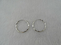 Sterling Silver - Hoop Earrings (Sml)