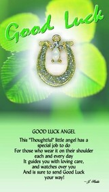 z Affirmation Angel Pin - Good Luck Angel