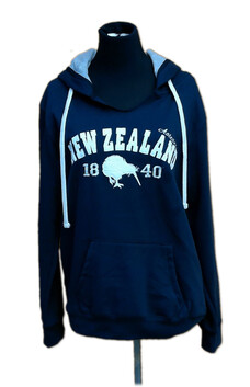 NZ Made Clothing - NZ Hoodie - Navy Applique