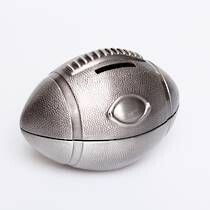 Pewter Rugby Ball Money Box