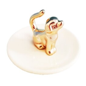 Ring Dish - Gold Dog