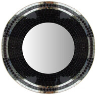 Mosaic Mirror (mirror trim) 70cm / Black