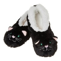 Slippers - Slumbies - Black Cat