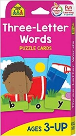 School Zone Flash Cards - Three Letter Words