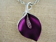 Necklace - Purple Lily