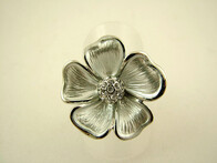 Ring - Daisy Flower Ring with Rhinestone