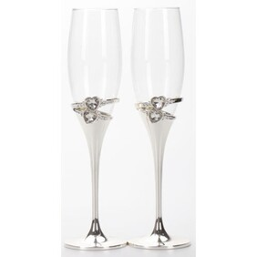 Champagne Wine Glasses (Set of Two) - Rings